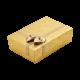 Футляр / упаковка ювелирных изделий золотая с золотым бантом для комплектов FK-005 G