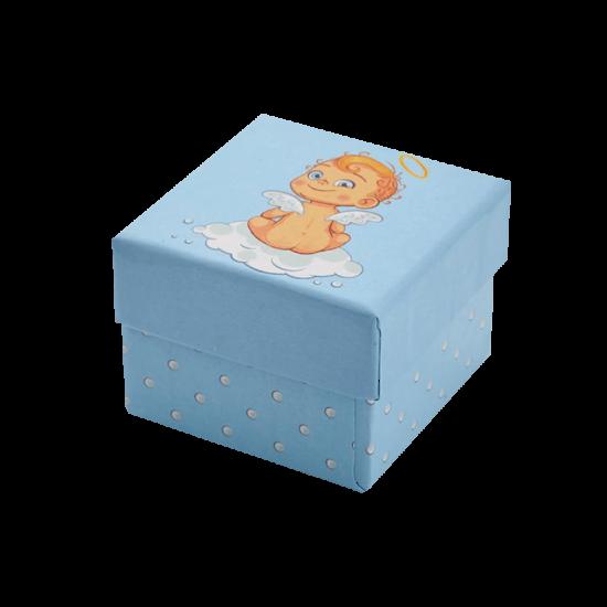 Футляр / упаковка ювелирных изделий детская Пупс Ангелочек для мальчика FK-011