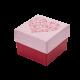 Футляр / упаковка ювелирных изделий романтическое Сердце красное FK-014