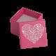 Футляр / упаковка ювелирных изделий романтическое Сердце белое FK-015