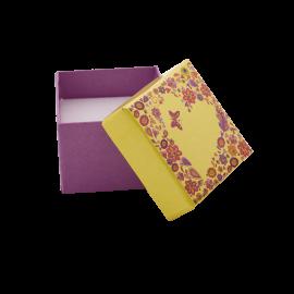 Футляр / упаковка ювелирных изделий романтическое Сердце желтое