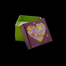 Футляр / упаковка ювелирных изделий романтическое Сердце с цветами