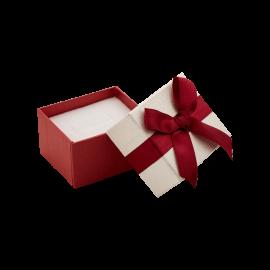Футляр / упаковка ювелирных изделий мини бантик бордовая
