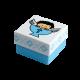 Футляр / упаковка ювелирных изделий крестильная для мальчика FK-029