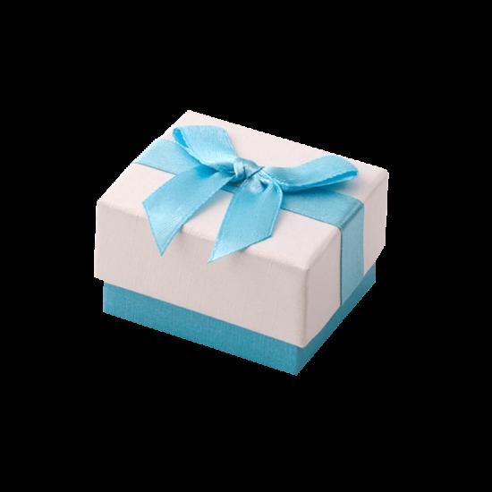 Футляр / упаковка ювелирных изделий бантик голубой FK-031