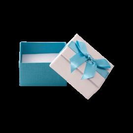 Футляр / упаковка ювелирных изделий бантик голубой