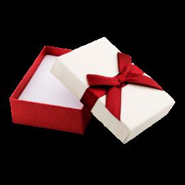 Футляр / упаковка ювелирных изделий бантик бордовая