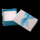Футляр / упаковка ювелирных изделий бантик голубой FK-036