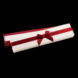 Футляр / упаковка ювелирных изделий длинная бантик бордовый