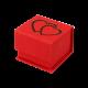 Футляр / упаковка ювелирных изделий романтическая два Сердца с магнитом FK-044