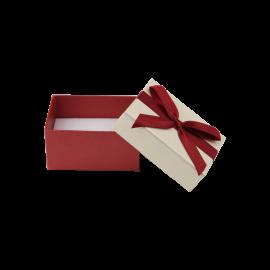 Футляр / упаковка ювелирных изделий бордовый бантик