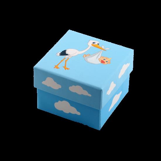 Футляр / упаковка ювелирных изделий Аист с малышом для мальчика FK-049