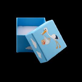 Футляр / упаковка ювелирных изделий Аист с малышом для мальчика