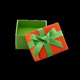 Футляр / упаковка ювелирных изделий мини бантик зеленый
