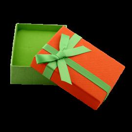 Футляр / упаковка ювелирных изделий бантик зеленый