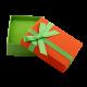 Футляр / упаковка ювелирных изделий бантик зеленый FK-064