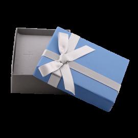 Футляр / упаковка ювелирных изделий модерн бантик синяя