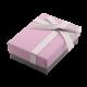Футляр / упаковка ювелирных изделий модерн бантик темно-розовая FK-068