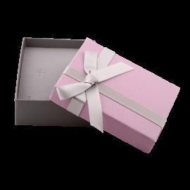 Футляр / упаковка ювелирных изделий модерн бантик темно-розовая