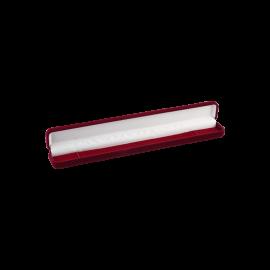 Футляр / упаковка ювелирных изделий длинная бархат бордовая