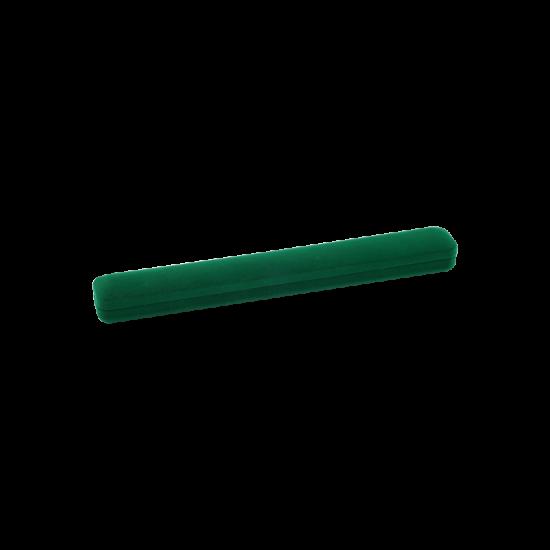 Футляр / упаковка ювелирных изделий длинная бархат зеленая FK-076