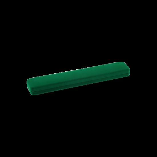 Футляр / упаковка ювелирных изделий длинная бархат зеленая FK-080