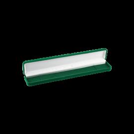 Футляр / упаковка ювелирных изделий длинная бархат зеленая