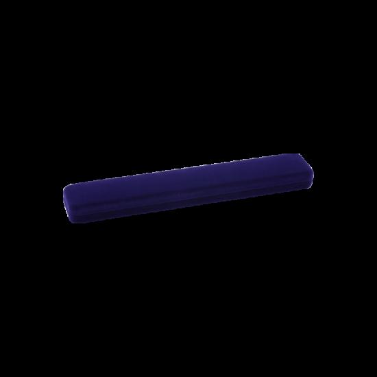 Футляр / упаковка ювелирных изделий длинная бархат темно-синяя FK-081