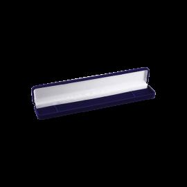 Футляр / упаковка ювелирных изделий длинная бархат темно-синяя
