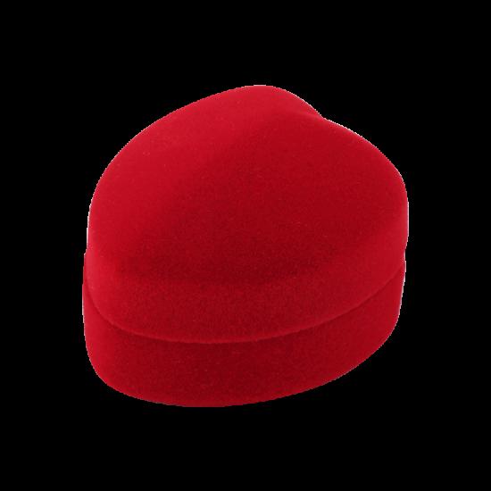 Футляр / упаковка ювелирных изделий бархат сердечко красная FK-088