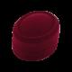 Футляр / упаковка ювелирных изделий бархат овал бордовая FK-096