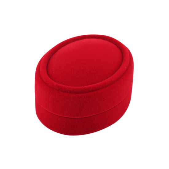 Футляр / упаковка ювелирных изделий бархат мини овал красная FK-097