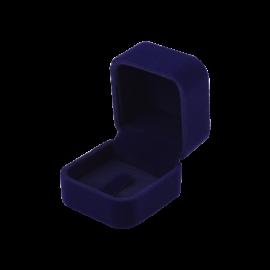 Футляр / упаковка ювелирных изделий бархат квадрат темно-синяя