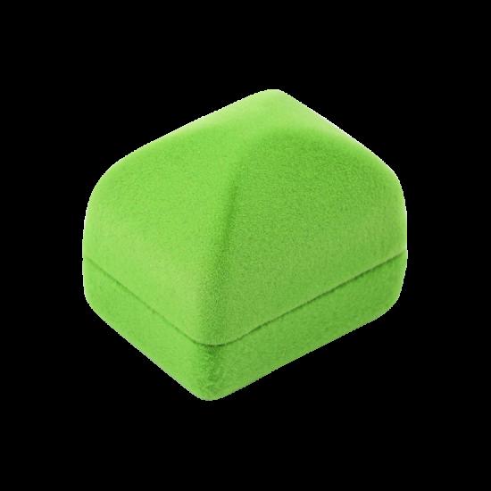 Футляр / упаковка ювелирных изделий бархат квадрат салатовая FK-102
