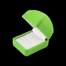 Футляр / упаковка ювелирных изделий бархат квадрат салатовая