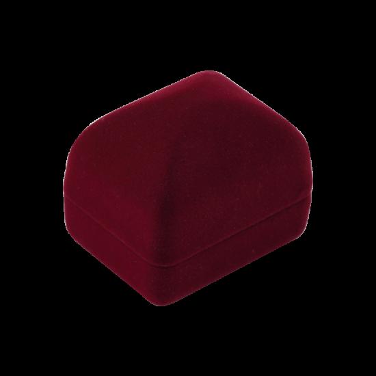 Футляр / упаковка ювелирных изделий бархат квадрат бордовая FK-103