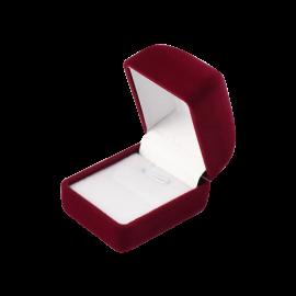 Футляр / упаковка ювелирных изделий бархат квадрат бордовая