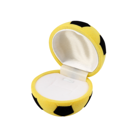 Футляр / упаковка ювелирных изделий детская Футбольный Мяч желтый