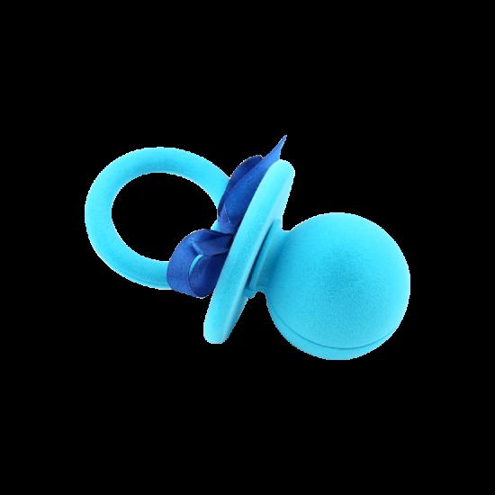 Футляр / упаковка ювелирных изделий детская Пустышка синяя FK-113