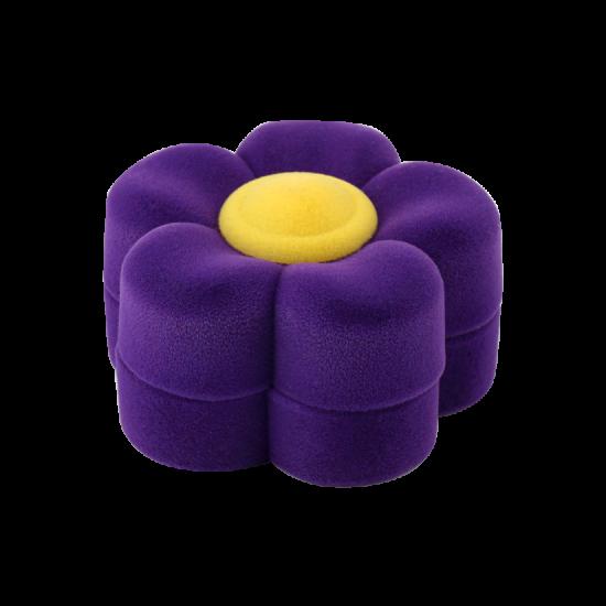 Футляр / упаковка ювелирных изделий детская Цветок фиолетовый FK-119