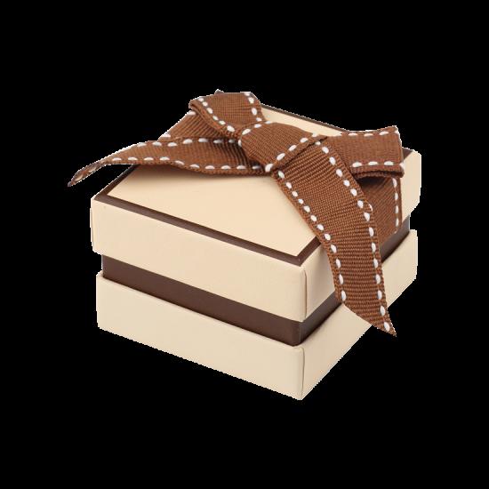 Футляр / упаковка ювелирных изделий классика квадрат беж FK-121