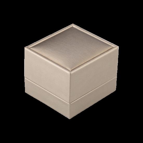Футляр / упаковка ювелирных изделий премиум квадрат беж FK-128