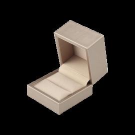 Футляр / упаковка ювелирных изделий премиум квадрат беж