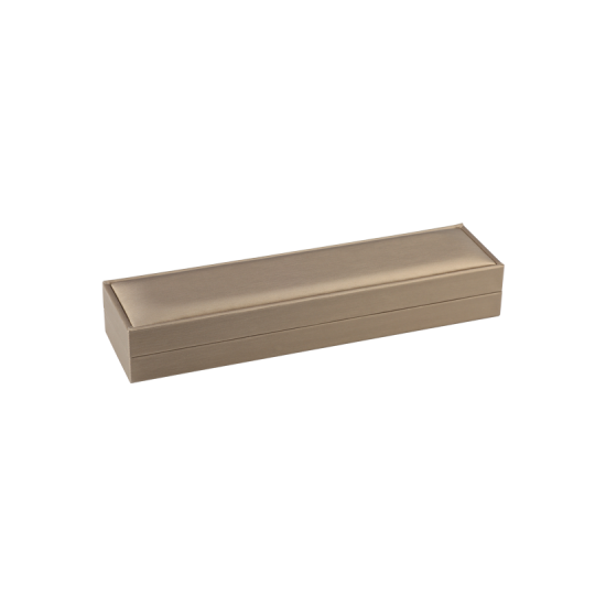 Футляр / упаковка ювелирных изделий премиум длинная беж FK-130
