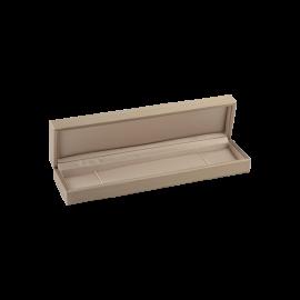 Футляр / упаковка ювелирных изделий премиум длинная беж
