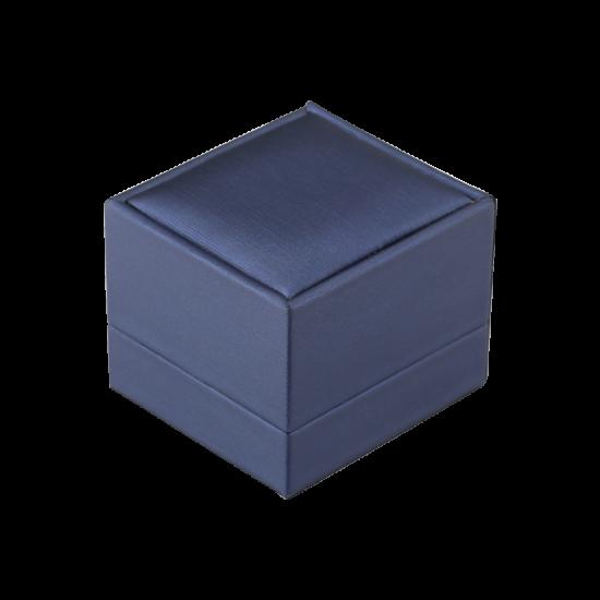 Футляр / упаковка ювелирных изделий премиум квадрат синяя FK-131