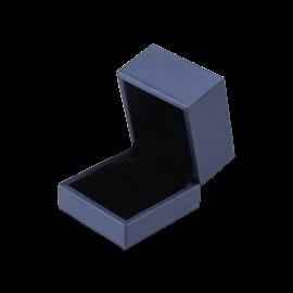 Футляр / упаковка ювелирных изделий премиум квадрат синяя