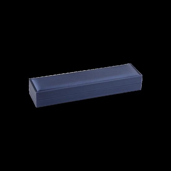 Футляр / упаковка ювелирных изделий премиум длинная синяя FK-133