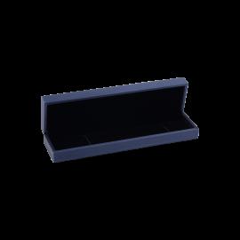 Футляр / упаковка ювелирных изделий премиум длинная синяя