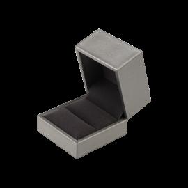 Футляр / упаковка ювелирных изделий премиум квадрат серая